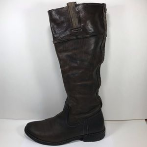 Frye Leather Knee High Boots 7B Pull On